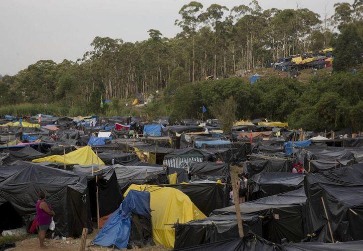El Homeless Workers Movement o Movimiento de Trabajadores sin Hogar,  afirman que no arruinarán la inauguración del Mundial en Sao Paulo. (Foto: AP)