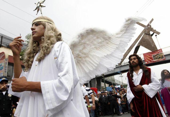 Cientos de habitantes de Iztapalapa son parte del elenco de la 170 representación de la Pasión de Cristo. (Notimex)