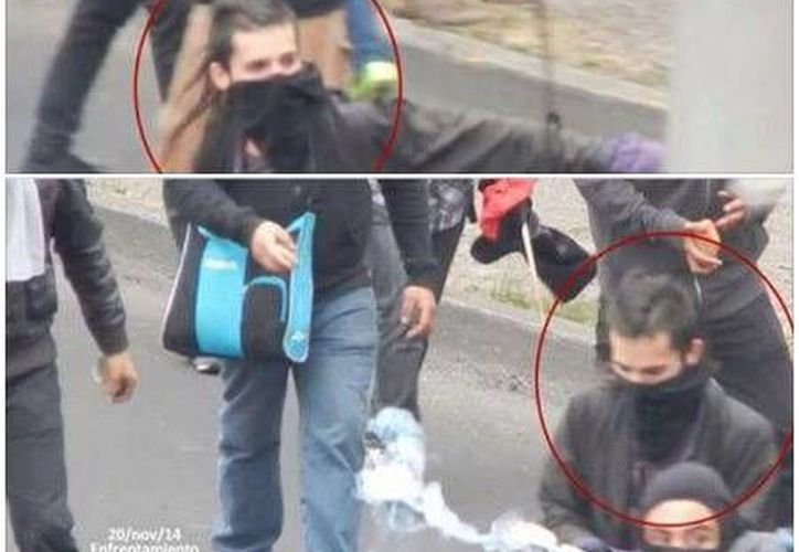 En redes sociales circula una imagen en la que presuntamente Sandino Bucio lanza explosivos. El joven confirmó que sí se trata de él. (Facebook)