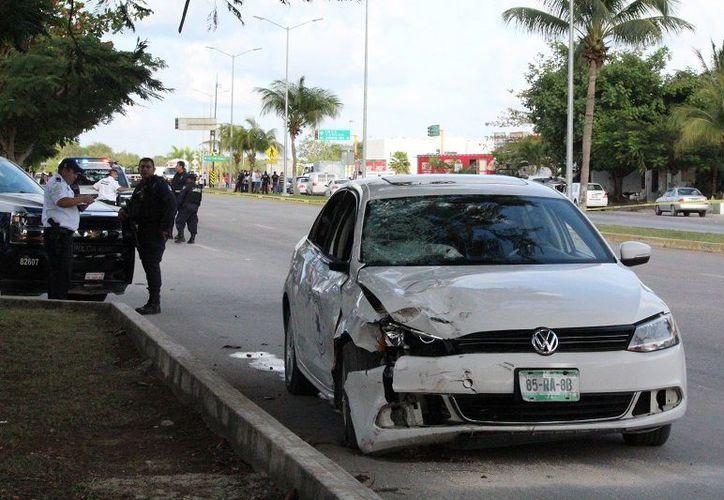 El conductor del auto involucrado fue detenido y puesto a disposición de las autoridades ministeriales. (SIPSE)