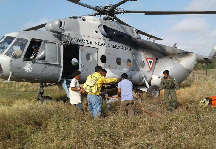 La falta de agua en los jagüeyes provoca que no se pueda utilizar el helicóptero.