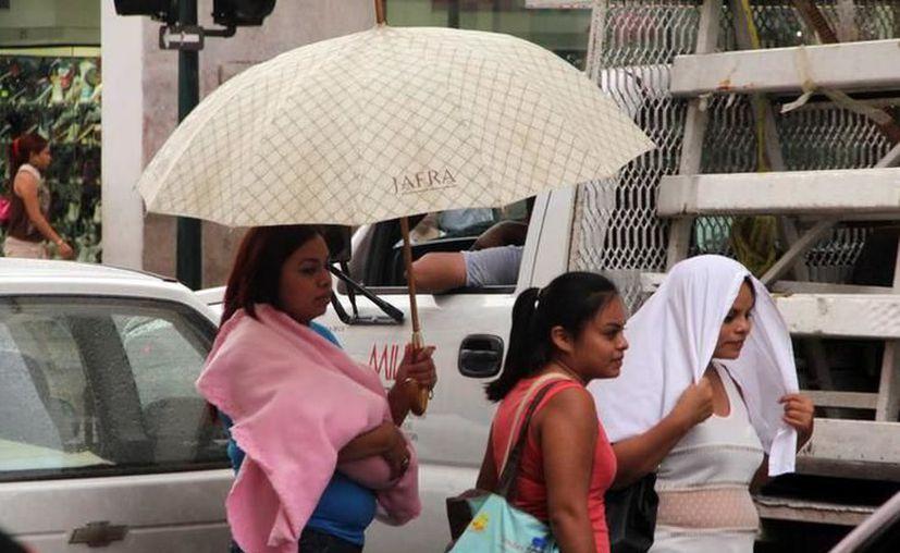 Se espera que para este miércoles caigan chubascos en el noroeste y sur de Yucatán. (Foto archivo SIPSE)