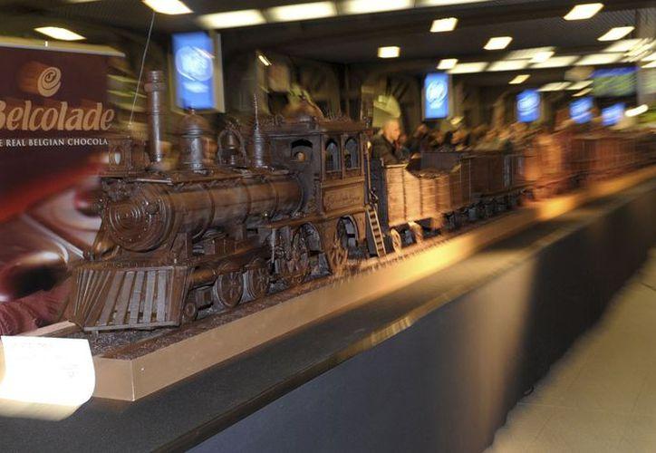 El Belcolade Express fue inaugurado el lunes en la Gare de Midi de Bruselas, capital mundial del chocolate. (Reuters)