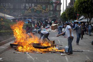 El desalojo de maestros en la Ciudad de México