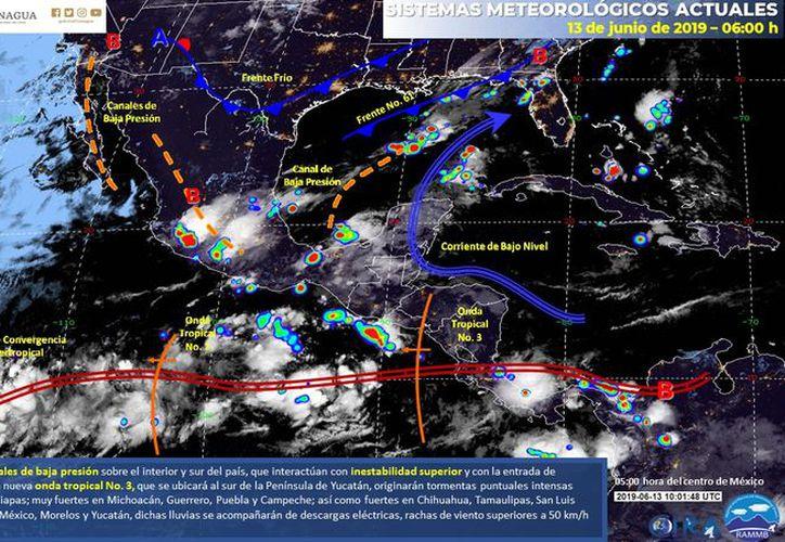 Pese al  evento meteorológico, se espera un ambiente bochornoso. (Servicio Meteorológico Nacional)