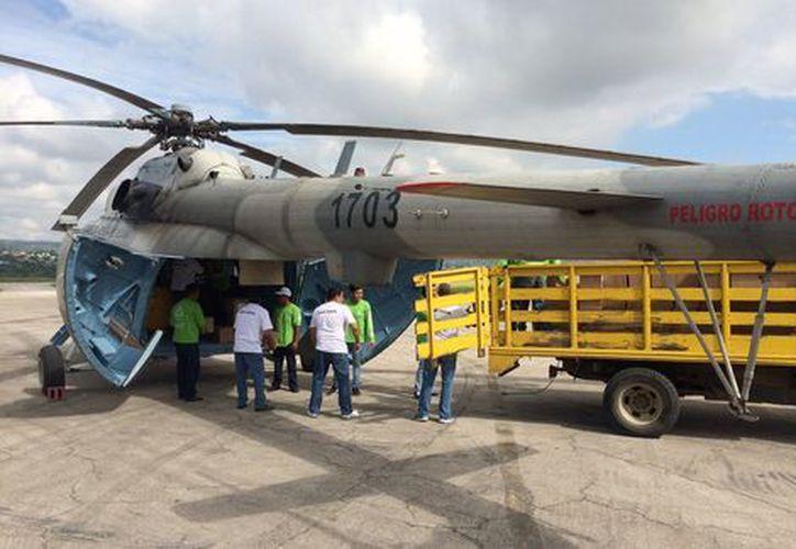 Se desplomó un helicóptero que trasladaba víveres a Chiapas. (@VelascoM_).