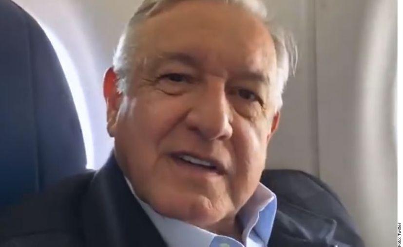 El Presidente López Obrador emitió su mensaje previo a viajar a Oaxaca para un acto. (Agencia Reforma)