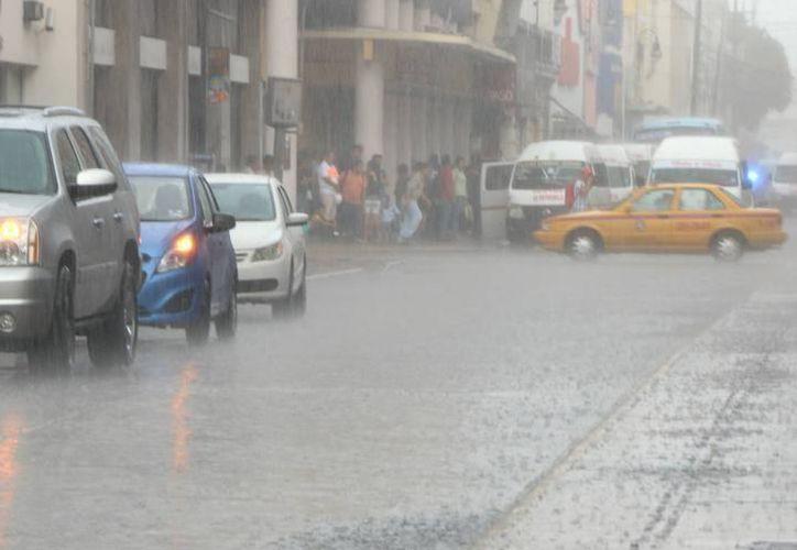 """De acuerdo con los pronósticos para hoy se espera que """"Franklin"""" se encuentre en el suroeste del Golfo de México ocasionando lluvias en la región.  (José Acosta/Milenio Novedades)"""