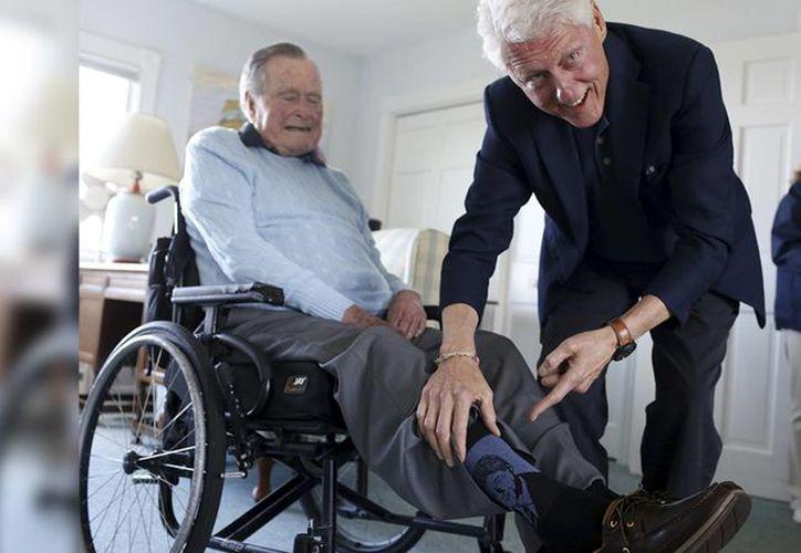 El republicano llevaba puesto calcetines con el rostro del ex presidente demócrata. (Internet)