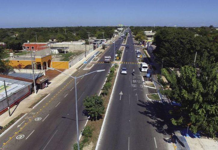Este jueves se concretó la modernización de la Avenida 50, y la construcción de la primera ciclovía dentro de Mérida. (Fotos cortesía del Ayuntamiento)