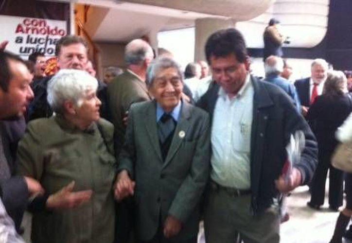 Martínez Verdugo durante el homenaje que le rindió la delegación Tlalpan. (Milenio)