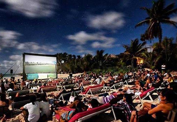 Las proyecciones de películas en Tulum serán al aire libre. (Cortesía/SIPSE)