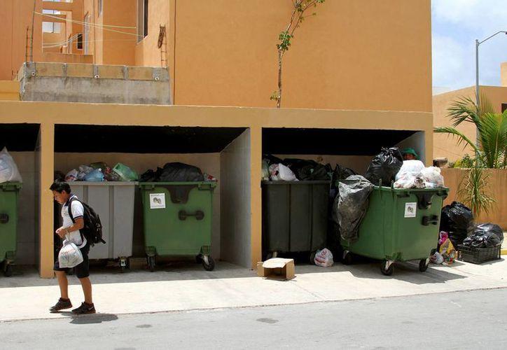 Al día, en promedio cada habitante de Villas del Sol genera 3.74 kilogramos de basura.  (Adrián Monroy/SIPSE)