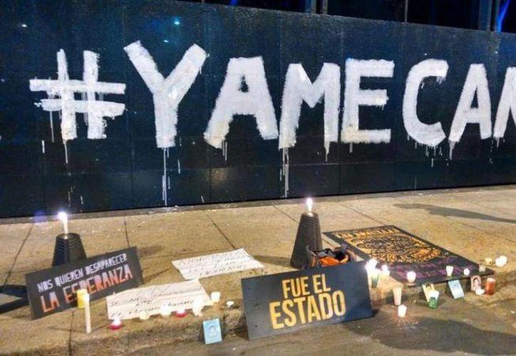 El #YaMeCansé acumuló más de cuatro millones de menciones y era usado permanente en mensajes a favor de los normalistas de Ayotzinapa. (Milenio)