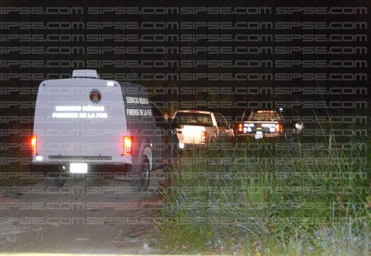 Al lugar llegó el personal del Servicio Médico Forense (Semefo), para  realizar los levantamientos de los cuerpos. (Enrique Castro/SIPSE)