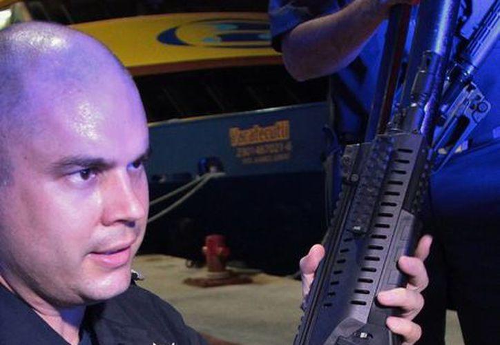 Sergio Luis Terrazas Montes, director de Seguridad Pública del Ayuntamiento de Cozumel. (Gustavo Villegas/SIPSE)