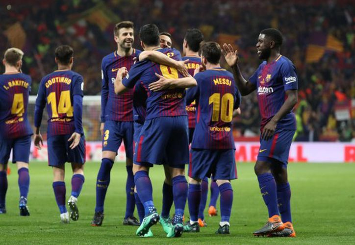 El equipo catalán fue el único protagonista en la cancha. (Foto: Reuters).