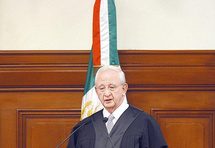 El presidente de la Suprema Corte, Juan Silva Meza. (Milenio)