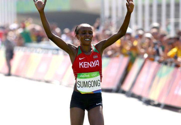 Jemina Sumgong ganó el oro en los Juegos Olímpicos de Río de Janeiro. (Foto: AFP)