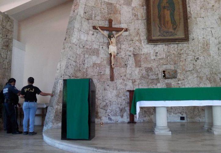 Ladrones dejaron sin hostias y vino de consagrar a la iglesia de Guadalupe. (Redacción/SIPSE)