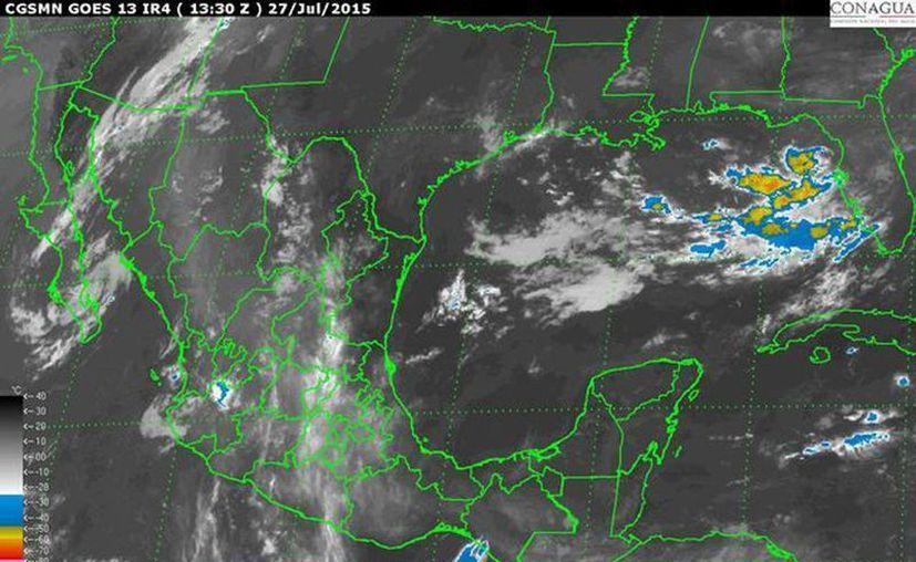 La Península de Yucatán mostrará cielo medio nublado a nublado, 40 por ciento de posibilidad de lluvias, ambiente templado a muy caluroso. (smn.cna.gob.mx)