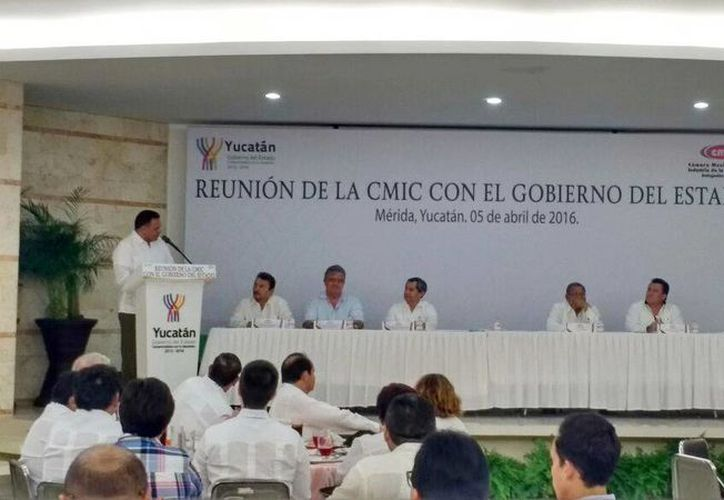 Las Reuniones Sectoriales quedaron inauguradas este lunes en la CMIC, por el Gobernador del Estado, Rolando Zapata Bello.(Candelario Robles/Milenio Novedades)