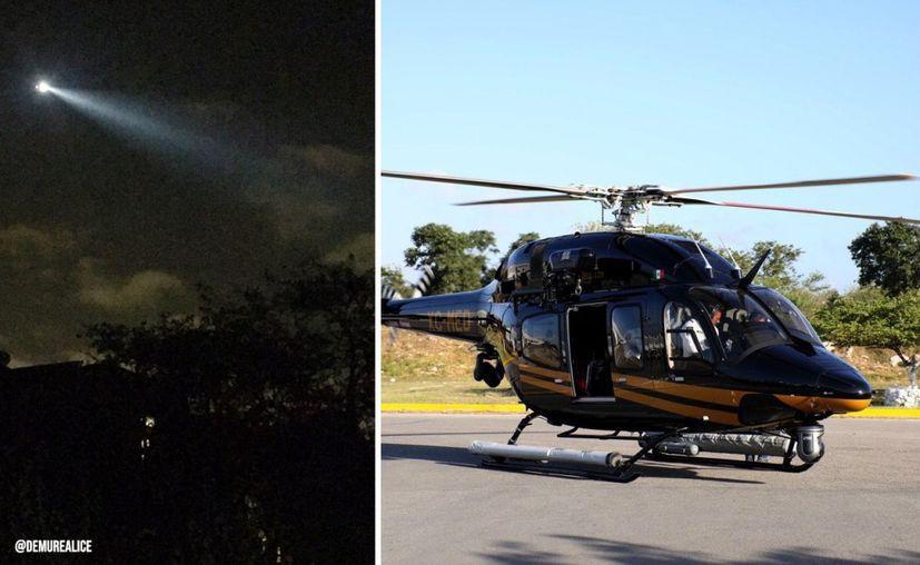 Helicóptero de SSP cuida a Mérida en plena cuarentena. (Novedades Yucatán)