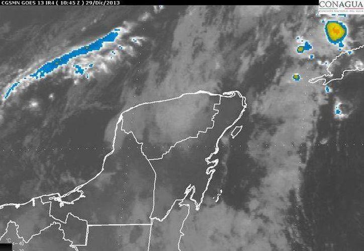 Cielo nublado y lluvias ligeras han sido pronosticadas en el estado. (Cortesía/Conagua)