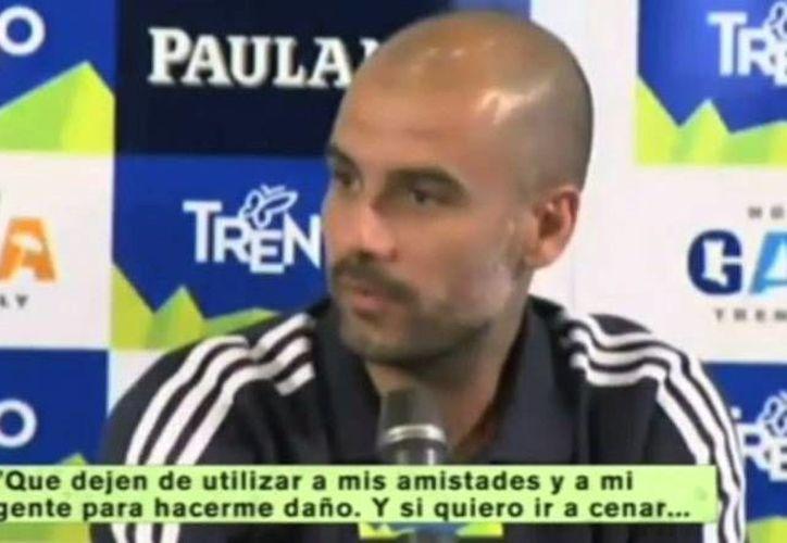 """""""Después de cuatro años en Barcelona me quede sin afán..."""" asegura Josep Guardiola (Toma de video)"""