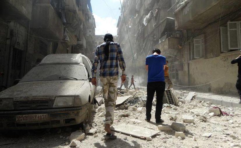 Mueren 38 combatientes del régimen por una explosión en un túnel en Alepo, Siria. (EFE)