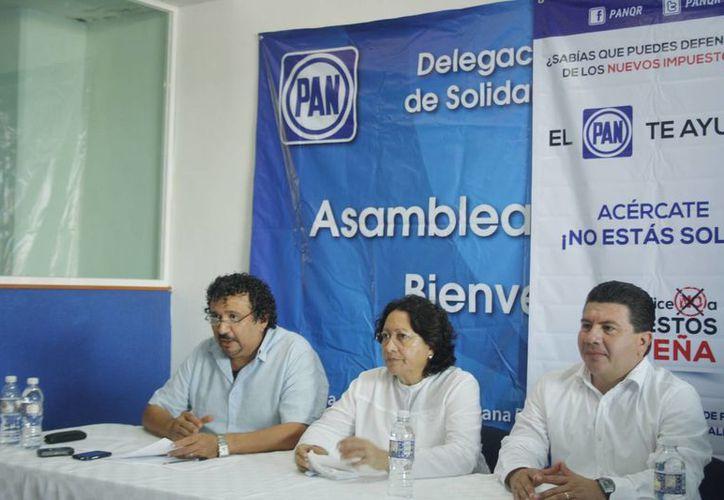 Los integrantes del PAN, en el municipio, informaron que la campaña es a nivel nacional. (Octavio Martínez/SIPSE)