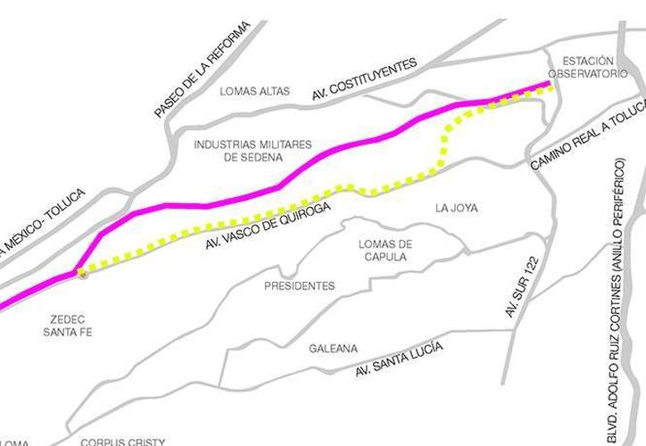 Fueron modificados 4.3 kilómetros, correspondientes al último tramo del tren interurbano. (GDF)