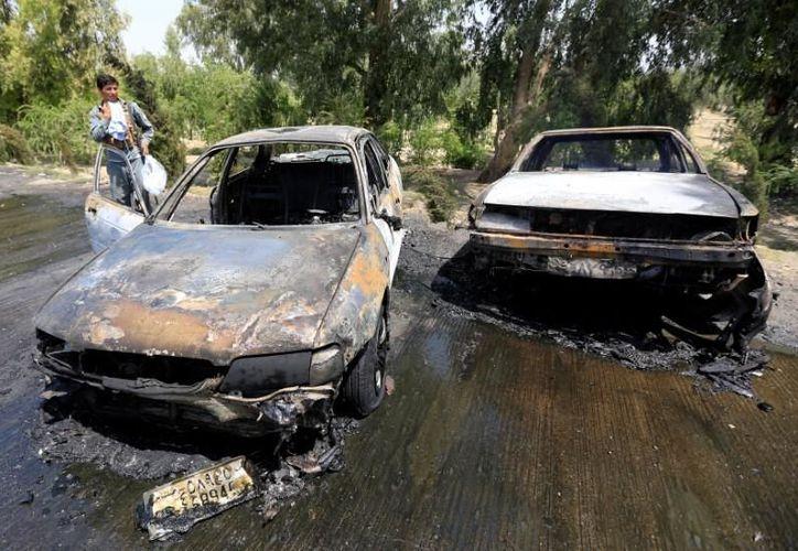 El hecho de violencia ocurrido en los límites del sexto distrito policial de Jalalabad. (Twitter)