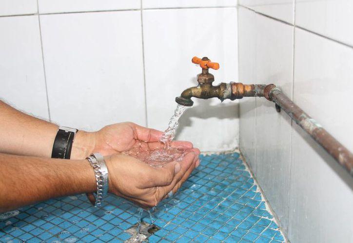 El agua que la CAPA lleva a hogares y negocios presenta problemas de dureza. (Carlos Horta/ SIPSE)