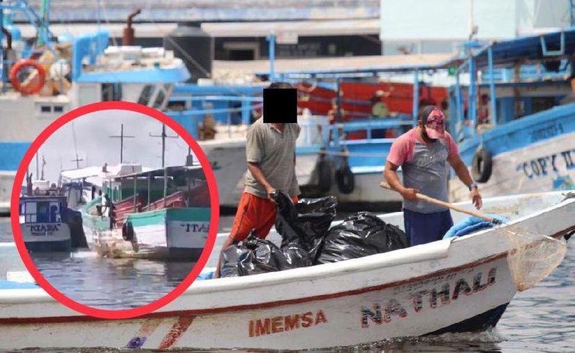 En el video se aprecia cómo el pescador tiraba desperdicios en el agua.