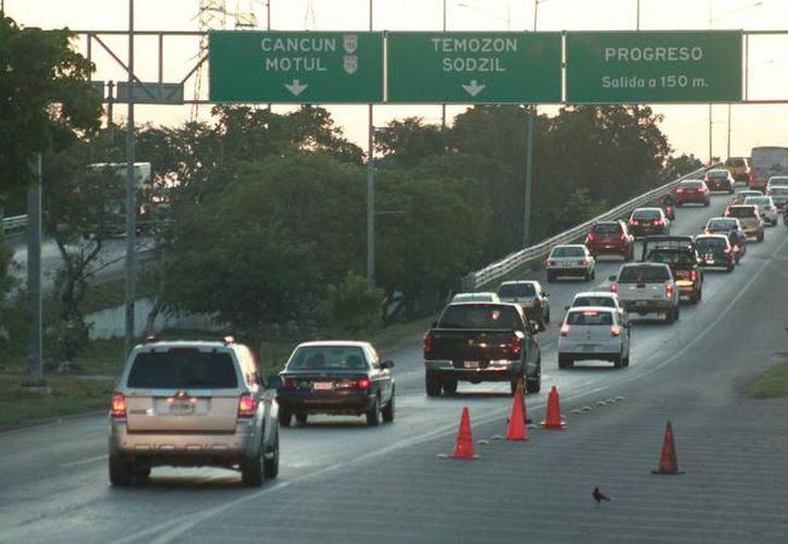 Comenzarán las obras para la modernización del distribuidor a la salida a Progreso, la cual tendrá cuatro carriles por cada dirección. (Foto: Milenio Novedades)