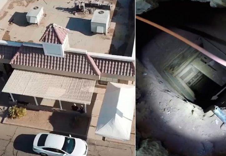 La policía estadounidense encontró la construcción debajo de un restaurante vecino a la frontera con México. (Foto: KYMA-DT).