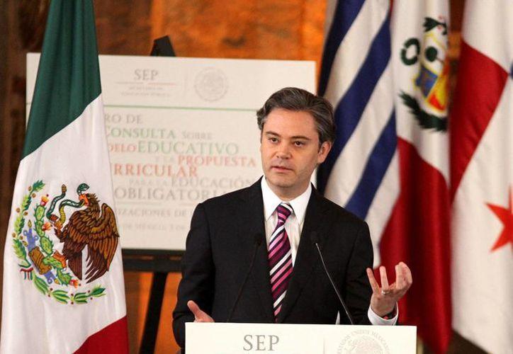 Aurelio Nuño anunció inversiones para mejora de infraestructura educativa. (Archivo/Notimex)