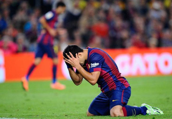 La llegada del delantero Luis Suárez no ha significado para el Barcelona una ventaja sobre sus rivales. Esta vez, Barza perdió 0-1 con Celta de Vigo. (AP)