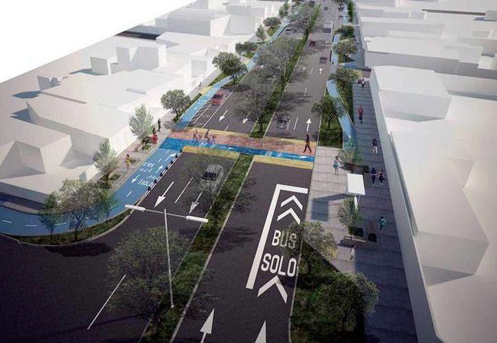 La modernización de varias calles en Mérida incluye la de la 50 Sur, en la que está incluida una ciclopista, la única en su tipo en Mérida. (Milenio Novedades)