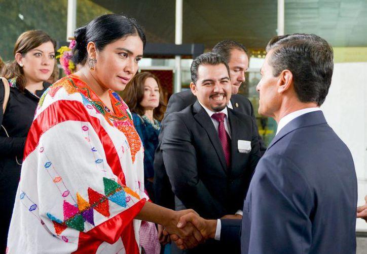 El presidente Enrique Peña Nieto encabezó la primera sesión pública del Sistema Nacional para la Igualdad entre Mujeres y Hombres. (Notimex)