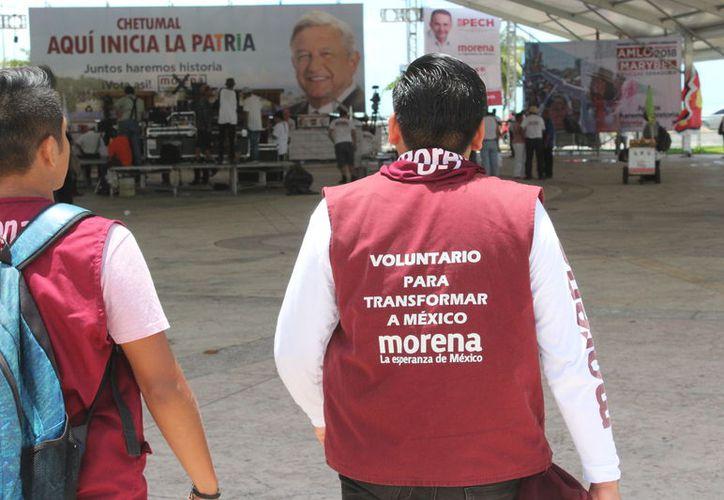 Los candidatos realizaron una gran campaña política en el estado. (Joel Zamora/SIPSE)