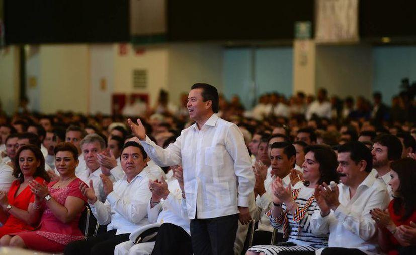 César Camacho Quiroz manifestó respeto por el Gobierno de Yucatán. (Luis Pérez/SIPSE)