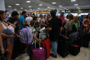 Se registra intensa actividad en el aeropuerto de Cancún
