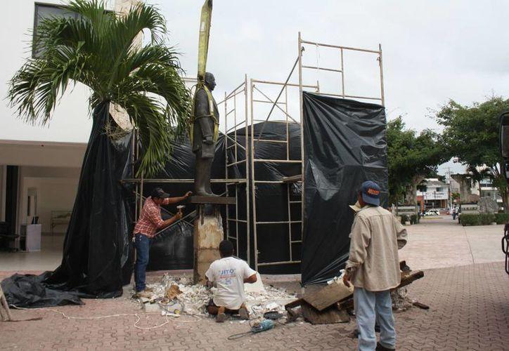 El Benemérito de las Américas será puesto en el parque Dos Aguas. (Sara Cauich/SIPSE)
