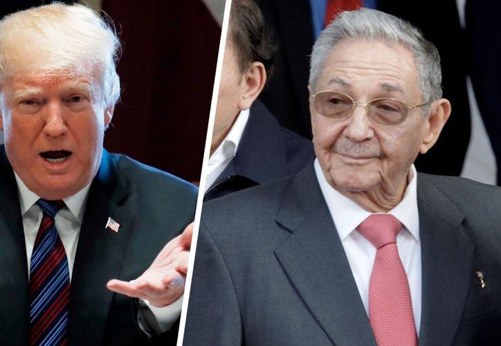 El presidente estadounidense Donald Trump y el líder cubano Raúl Castro coincidirán la semana próxima en la Cumbre de las Américas en Perú. (Foto: El Financiero)