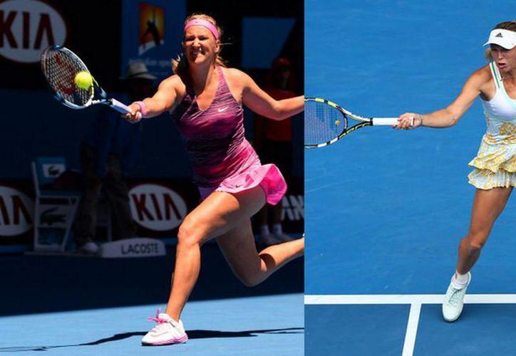 Victoria Azarenka (i) y Caroline Wozniacki, tenistas de talla mundial y primeras en confirmar su participación en el Abierto de Monterrey 2016. (sportskeeda.com)