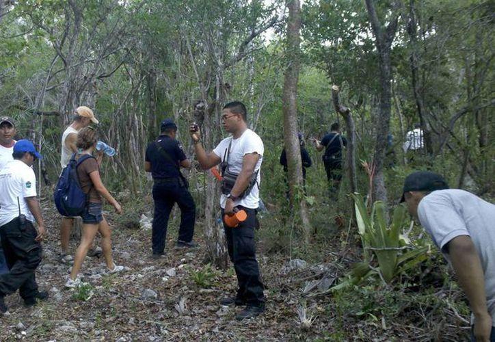Fuerzas de seguridad participaron para encontrar a los extranjeros. (Rossy López/SIPSE)