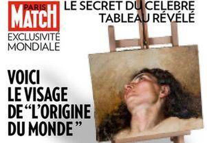 Portada de la revista en el que se aprecia el rostro de la mujer pintada por Courbet. (Paris Match)
