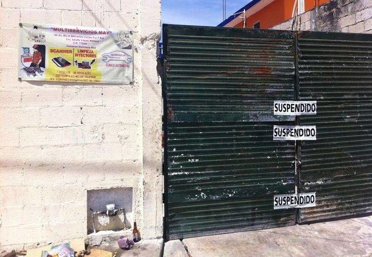 El taller mecánico se ubica en la 55 avenida bis, entre 5 e Hidalgo de la colonia Adolfo López Mateos.